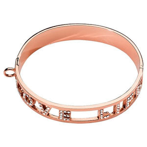 Love Life Swarovski Bangle Rose Gold Plate