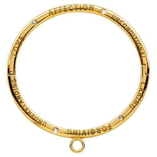 Love Affection Unconditional Swarovski Bangle Gold Plate