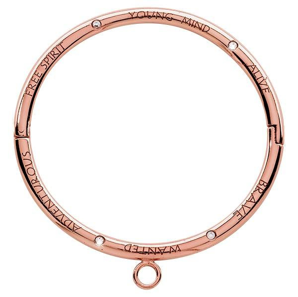 Free Spirit Young Mind Swarovski Bangle Rose Gold Plate