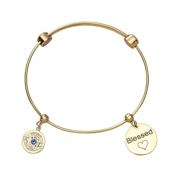 Lucky Eye Bangle Gold Plated