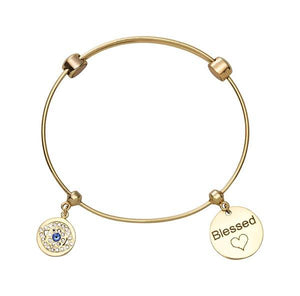 Lucky Eye Bangle Gold Plate