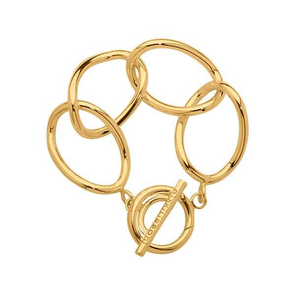 Open Curb Bracelet Gold Plated