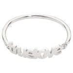 True Love Bangle Silver Plated