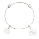 Direction To Love Bangle Silver Plate