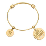 Life With Friends Bangle Gold Plate