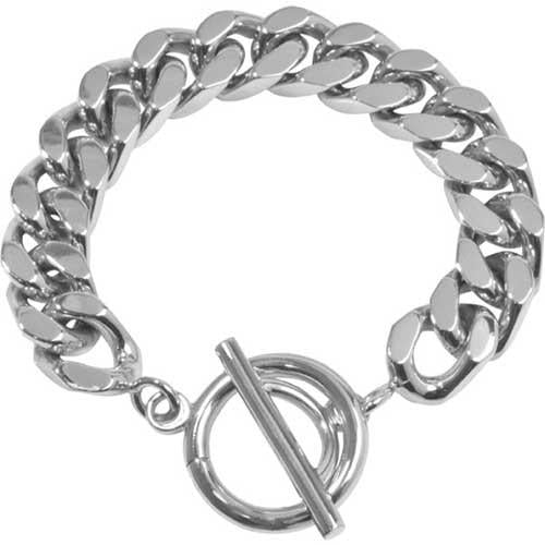 Bracelet Diamond Cut Silver Plated