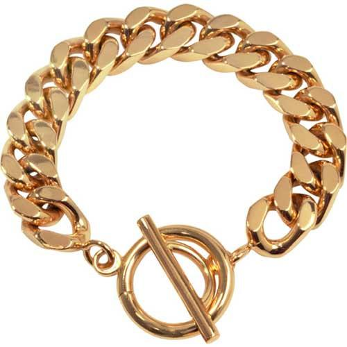 Bracelet Diamond Cut Gold Plate