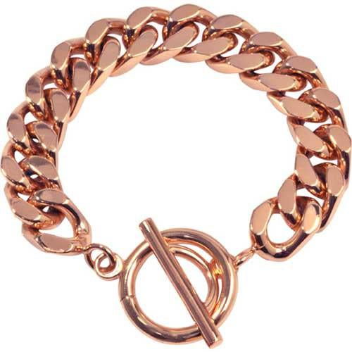 Bracelet Diamond Cut Rose Gold Plate