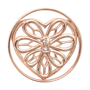 Nikki Lissoni - Peaceful Heart Rose Gold Plate 33mm Coin