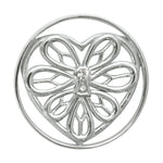 Peaceful Heart Silver Plated 33mm Coin
