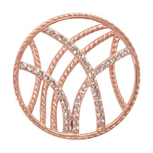 Nikki Lissoni - Rebellious Stripes Rose Gold Plate 33mm Coin