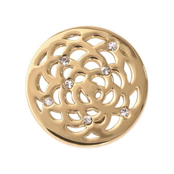 Sunflower Gold Plated 23mm Coin