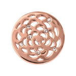 Sunflower Rose Gold Plated 23mm Coin