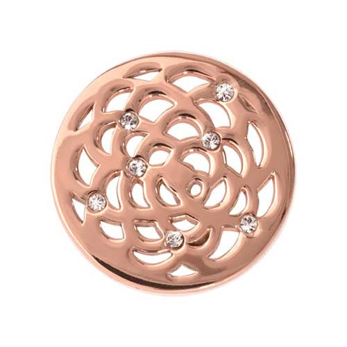 Sunflower Rose Gold Plate 23mm Coin