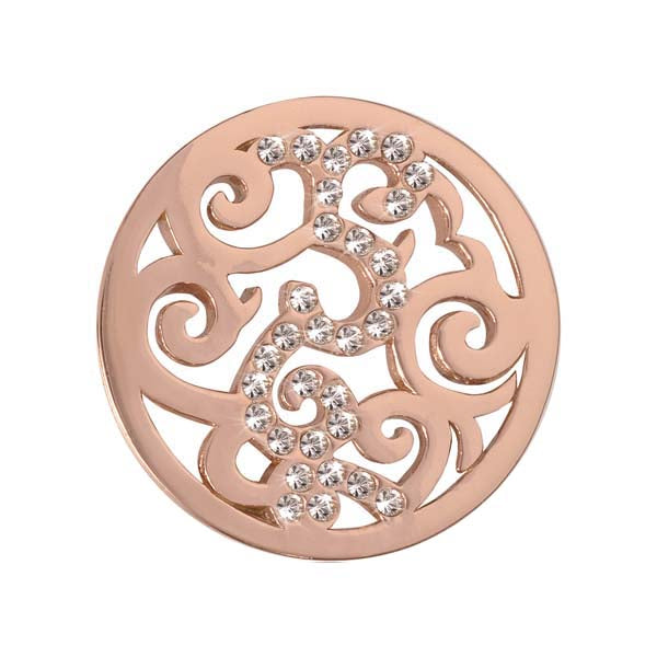 Nikki Lissoni - Baroque Rose Gold Plate 23mm Coin