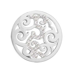 Nikki Lissoni - Baroque Silver Plate23mm Coin