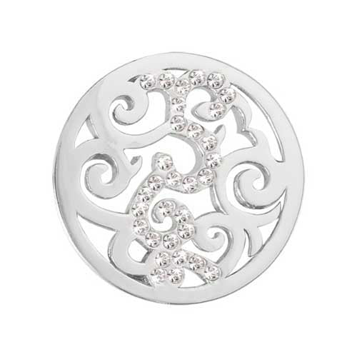 Baroque Silver Plate23mm Coin