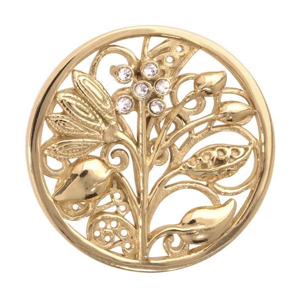 Fantasy Tree Gold Plated 33mm Coin
