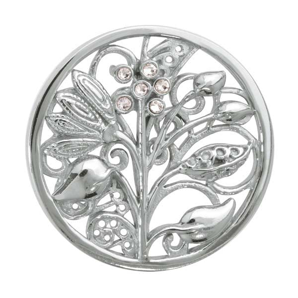 Fantasy Tree Silver Plated 33mm Coin
