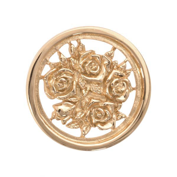 Bouquet With Roses Gold Plated 23mm Coin
