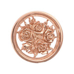 Bouquet With Roses Rose Gold Plated 23mm Coin