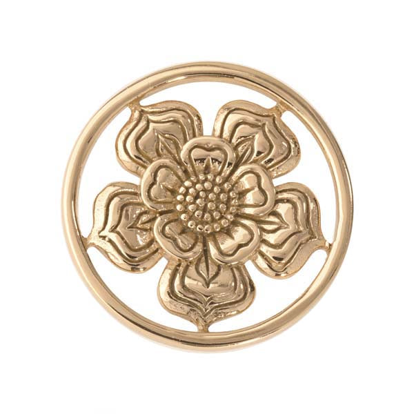 Lovely Flower Gold Plated 23mm Coin