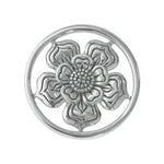 Lovely Flower Silver Plated 23mm Coin
