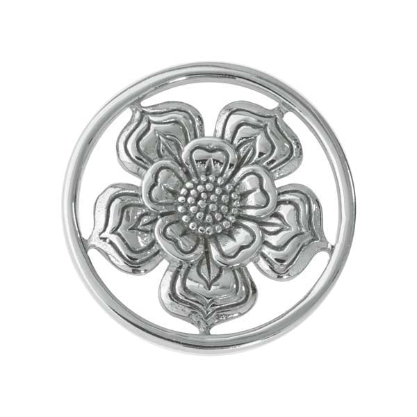 Nikki Lissoni - Lovely Flower Silver Plate 23mm Coin