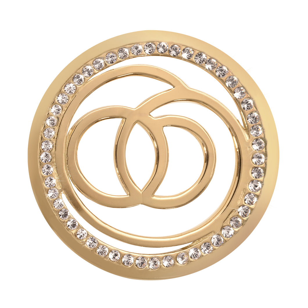 Nikki Lissoni - Sophisticated Gold Plate 33mm Coin