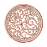 Vintage Curls Rose Gold Plated 33mm Coin