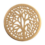 Tree Of Life Gold Plated 33mm Coin