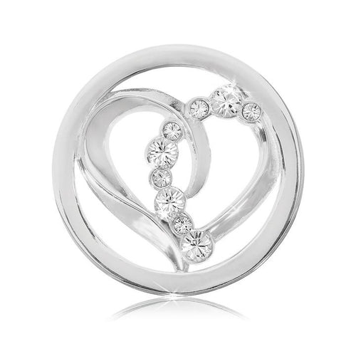 Nikki Lissoni - Connected Love Silver Plate 23mm Coin