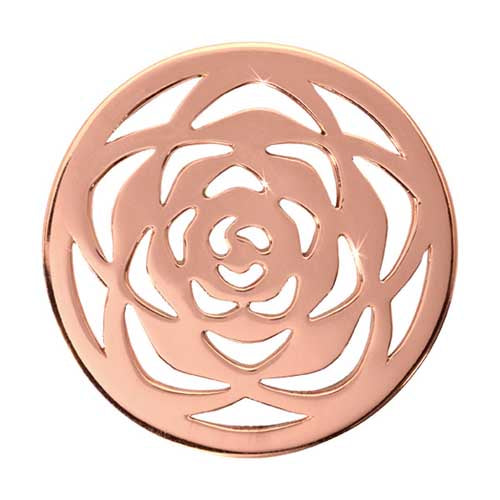 Nikki Lissoni - Rose Large Rose Gold Plate 33mm Coin