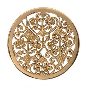 Nikki Lissoni - Vintage Decoration Gold Plate 33mm Coin