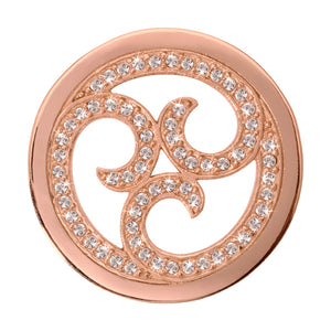 Nikki Lissoni - Sparkling Curls Rose Gold Plate 33mm Coin