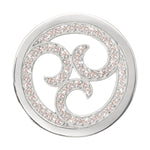 Sparkling Curls Silver Plated 33mm Coin