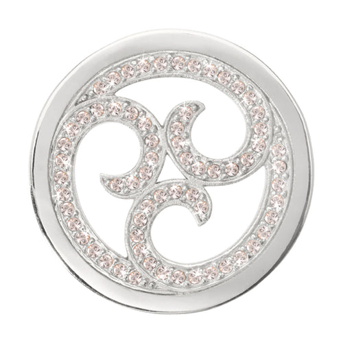 Nikki Lissoni - Sparkling Curls Silver Plate 33mm Coin