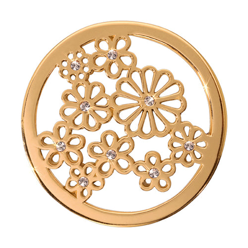 Nikki Lissoni - Sparkling Daisies Gold Plate 33mm Coin