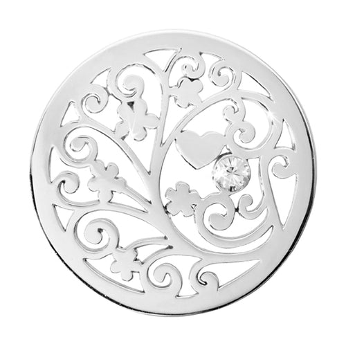 Nikki Lissoni - Tree Of Love Silver Plate 33mm Coin
