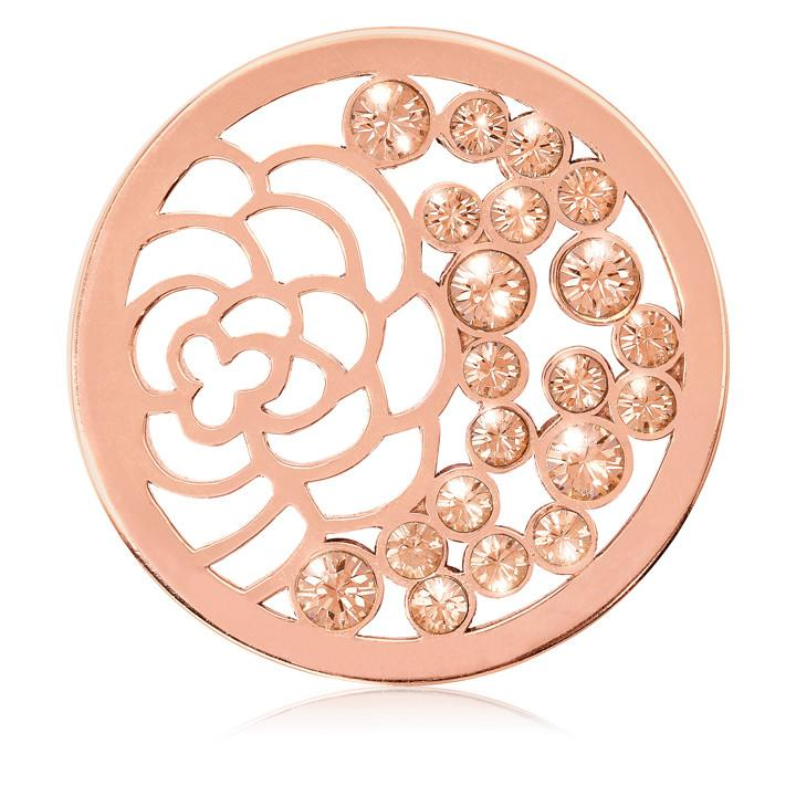China Garden Rose Gold Plate 33mm Coin