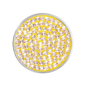 Swarovski Yellow Silver Plate 23mm Coin