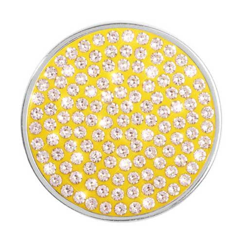 Swarovski Yellow Silver Plate 33mm Coin
