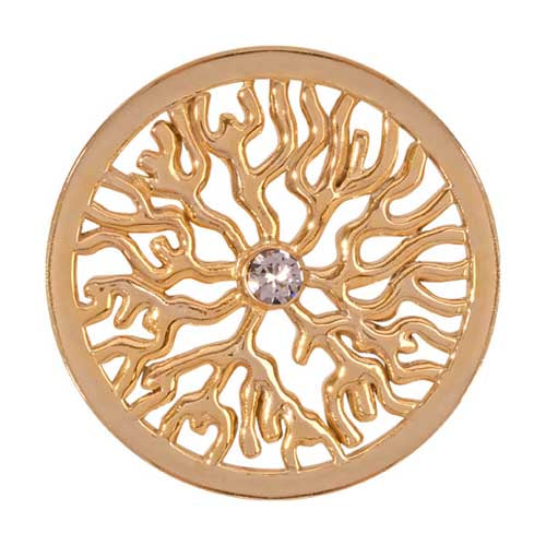 Nikki Lissoni - Tree Roots Gold Plate 33mm Coin
