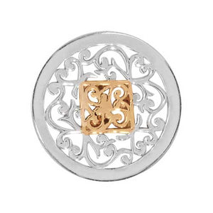 Nikki Lissoni - Square Fantasy Silver Plate 23mm Coin