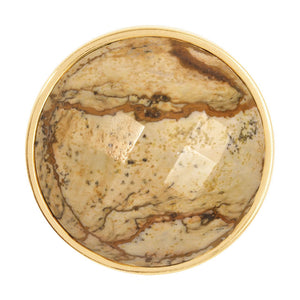 Picture Jasper Gold Plate 33mm Coin