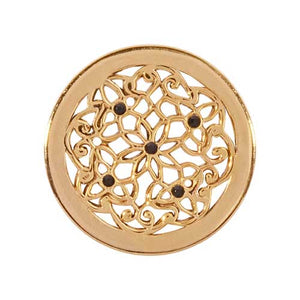 Nikki Lissoni - Flower Bed Gold Plate 23mm Coin
