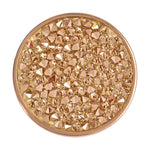 Yellow Rock Crystal Gold Plate 33mm Coin