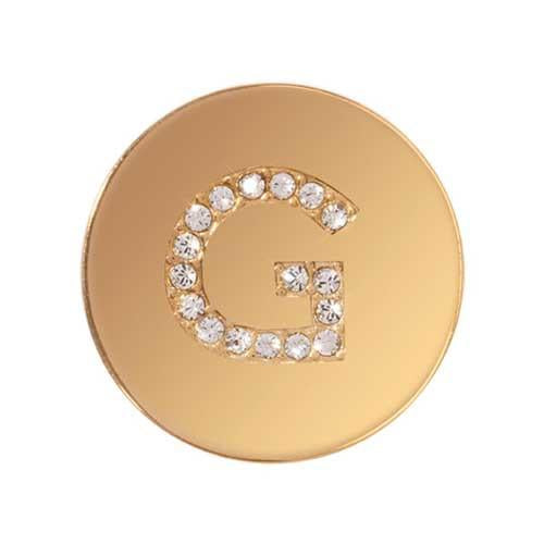 Sparkling G Gold Plate 23mm Coin