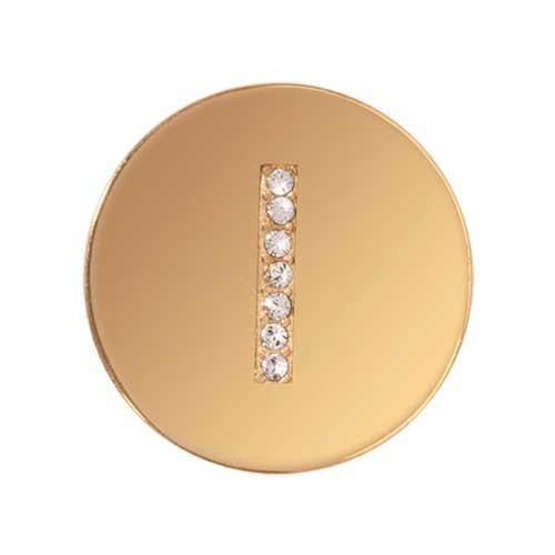 Sparkling I Gold Plated 23mm Coin
