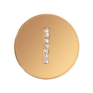 Sparkling I Gold Plate 23mm Coin